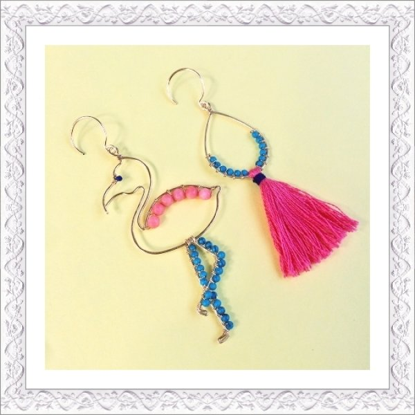 画像1: Flamingo Pierce/Earring (1)