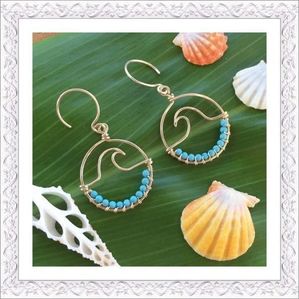 画像1: Hawaiian Wave Pierce/Earring (1)