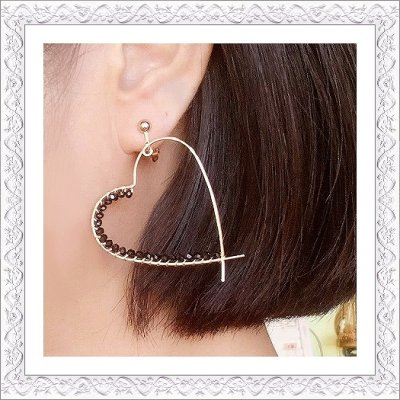 画像3: Heart Hoop Pierce/Earring