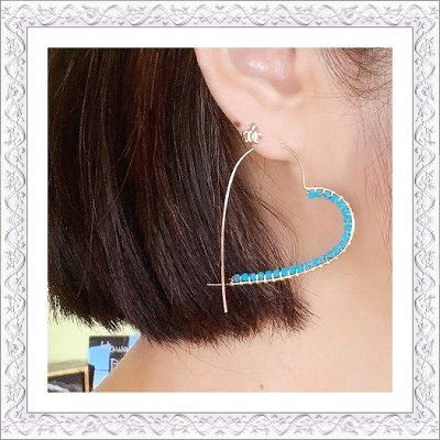 画像1: Heart Hoop Pierce/Earring