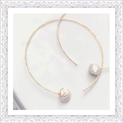 画像1: Keshi Pearl Hoop (Pierce/Earring)