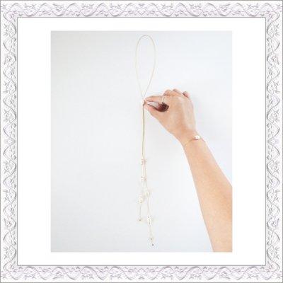 画像1: Keshi Pearl Bolo Tie Necklace