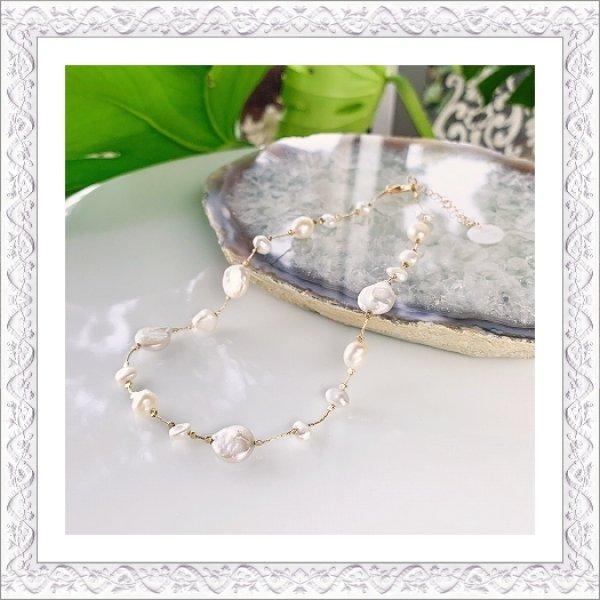 画像1: Keshi Pearl Choker Necklace (1)