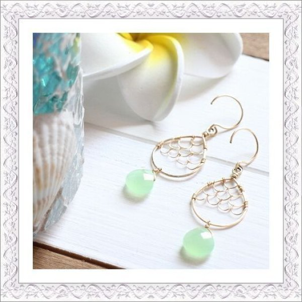 画像1: Mermaid Teardrop Pierce/Earring (1)