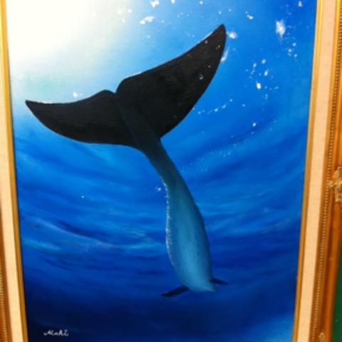イルカの絵「nainoa」完成!